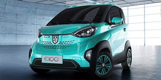 Baojun e100 | photo by @CNNTech via Twitter