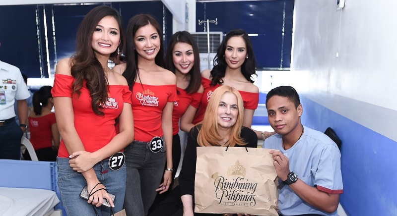 Binibining Pilipinas 2018 candidates bring cheer to wounded soldiers
