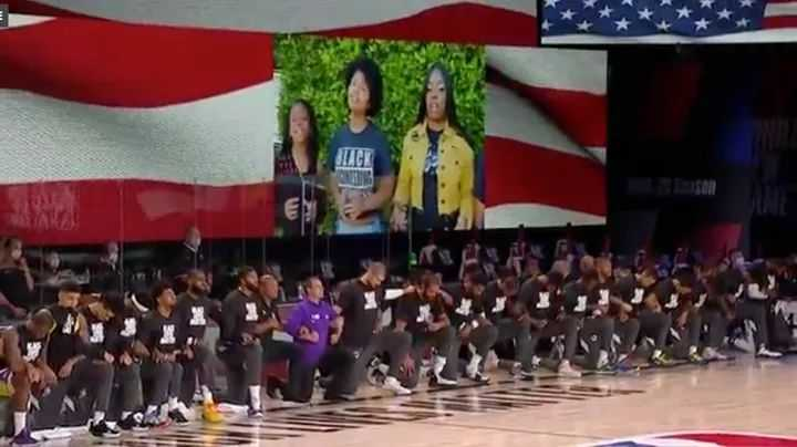 NBA players kneel during national anthem in support of Black Lives Matter