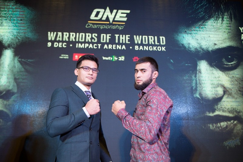 Shannon Wiratchai and Rasul Yakhyaev (ONE Championship photo)