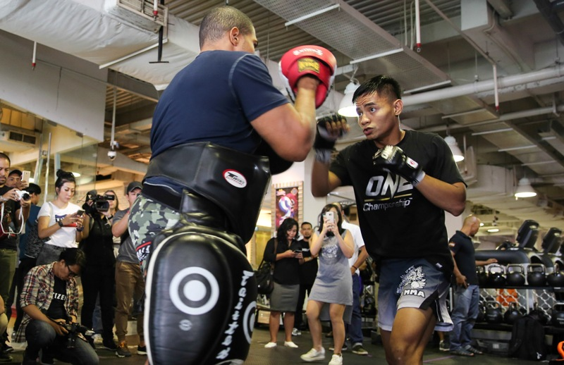 One Championship holds open workouts for 'ONE: TOTAL VICTORY' combatants