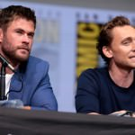 Chris Hemsworth and Tom Hiddleston (photo by Gage Skidmore/ Flickr)
