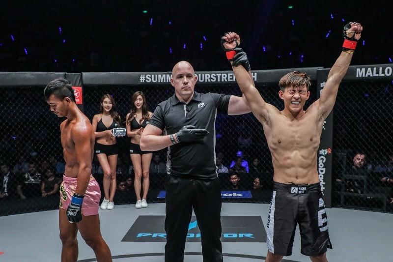 Zhao Zhi Kang vs Thai Rithy (ONE Championship photo)