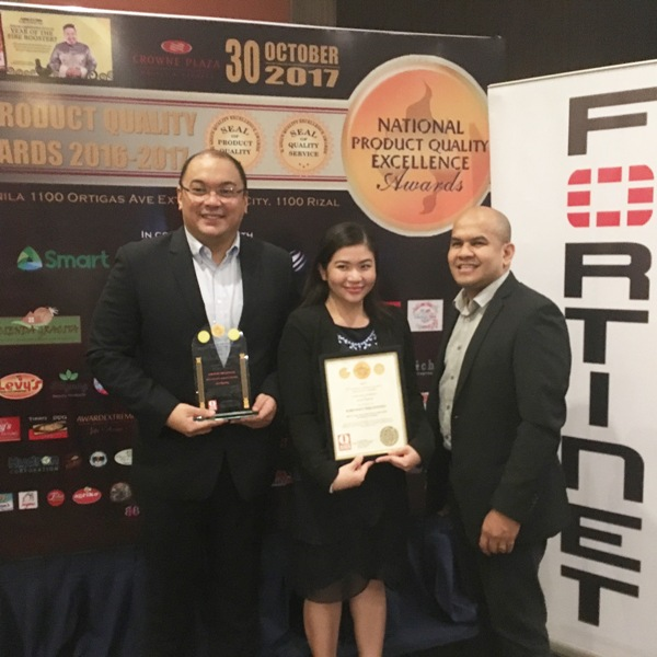 Fortinet PH bags the 12th  National Product Quality Excellence Award