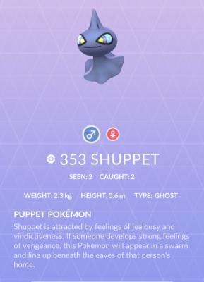 Pokemon Shuppet (photo by John Michaels)