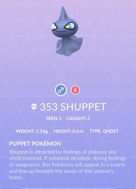 Banette, Shuppet beef up shiny 'Pokemon Go' lineup