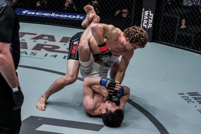 Ben Askren vs Shinya Aoki (ONE Championship photo)