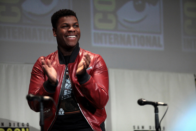 Boyega escapes Atlanta snow, makes 'Last Jedi' premiere