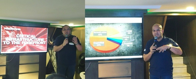 Jeff Castillo regional director for Fortinet Philippines and Nap Castillo, regional pre-sales consultant for Fortinet during the threat prediction media briefing.