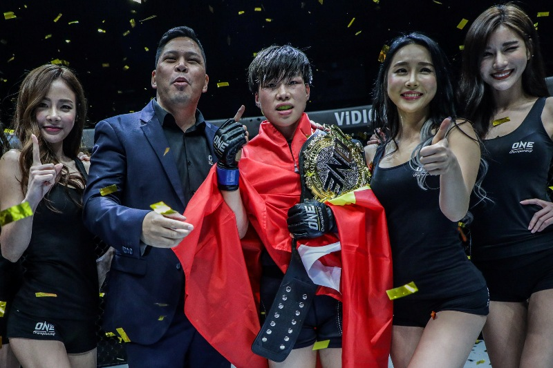 ONE Championship: 'The Panda' TKOs Teo to become inaugural Strawweight champ