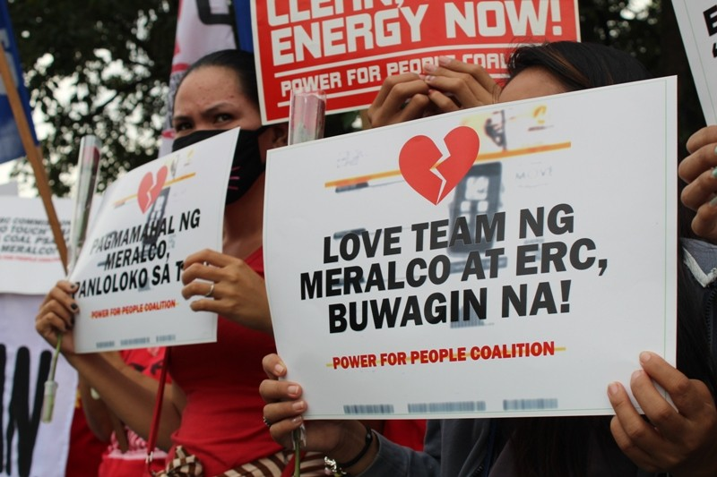Groups tell ERC this Valentine's: 'Practice abstinence, hands off Meralco contracts!'