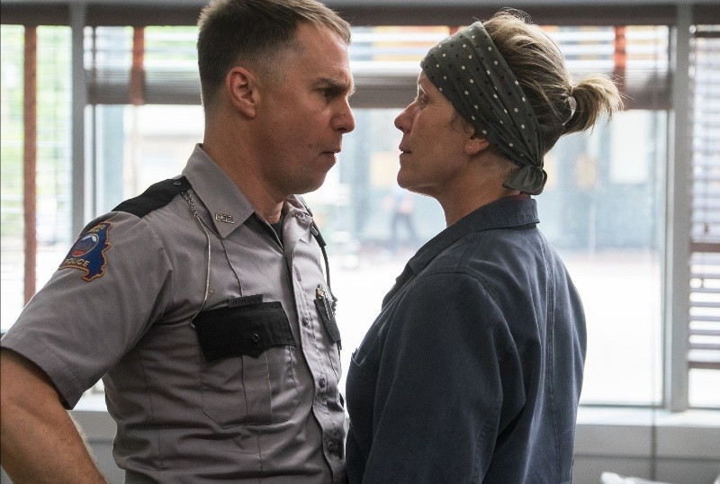 "Sam Rockwell and Frances McDormand on ""Three Billboards Outside Ebbing, Missouri"""
