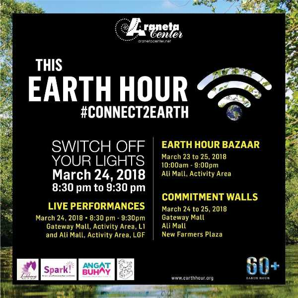 On Earth Hour 2018, Araneta Center switches lights off to #Connect2Earth