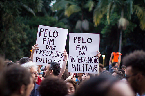 A month after her murder, Rio remembers Marielle Franco