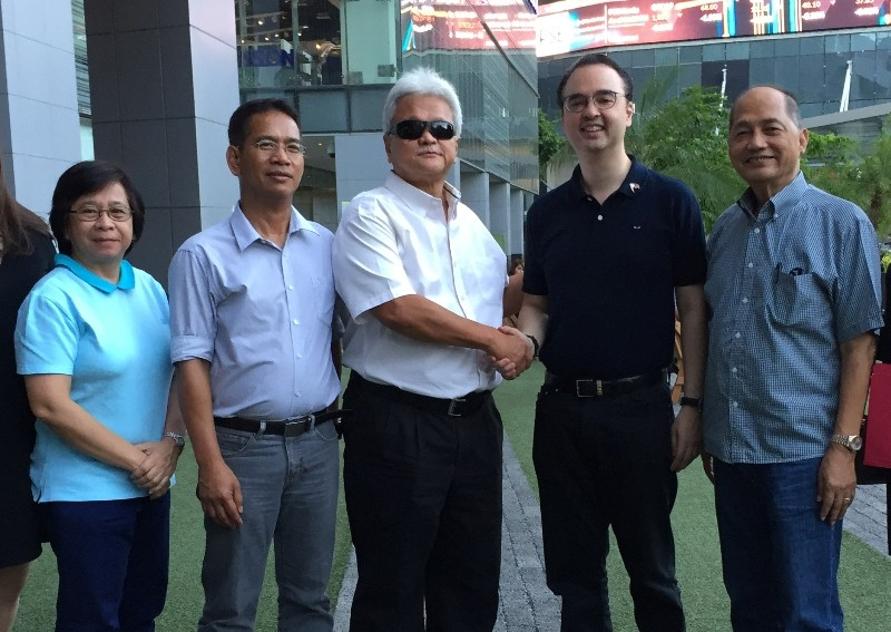Secretary Cayetano shakes hands with PPC President Mike Barredo in the presence of (L-R) PPC Marketing Director Debbie Tolentino, Philippine Sports Commission (PSC) Commissioner Arnold Agustin and PPC Vice President Tom Carrasco Jr. This is the second time that the Philippines is hosting the biennial event after its 3rd edition in 2005.
