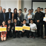 Winning students from the Philippines along with a representative from the ASEAN Foundation and SAP executives during last year's ASEAN Data Science Explorers Finals