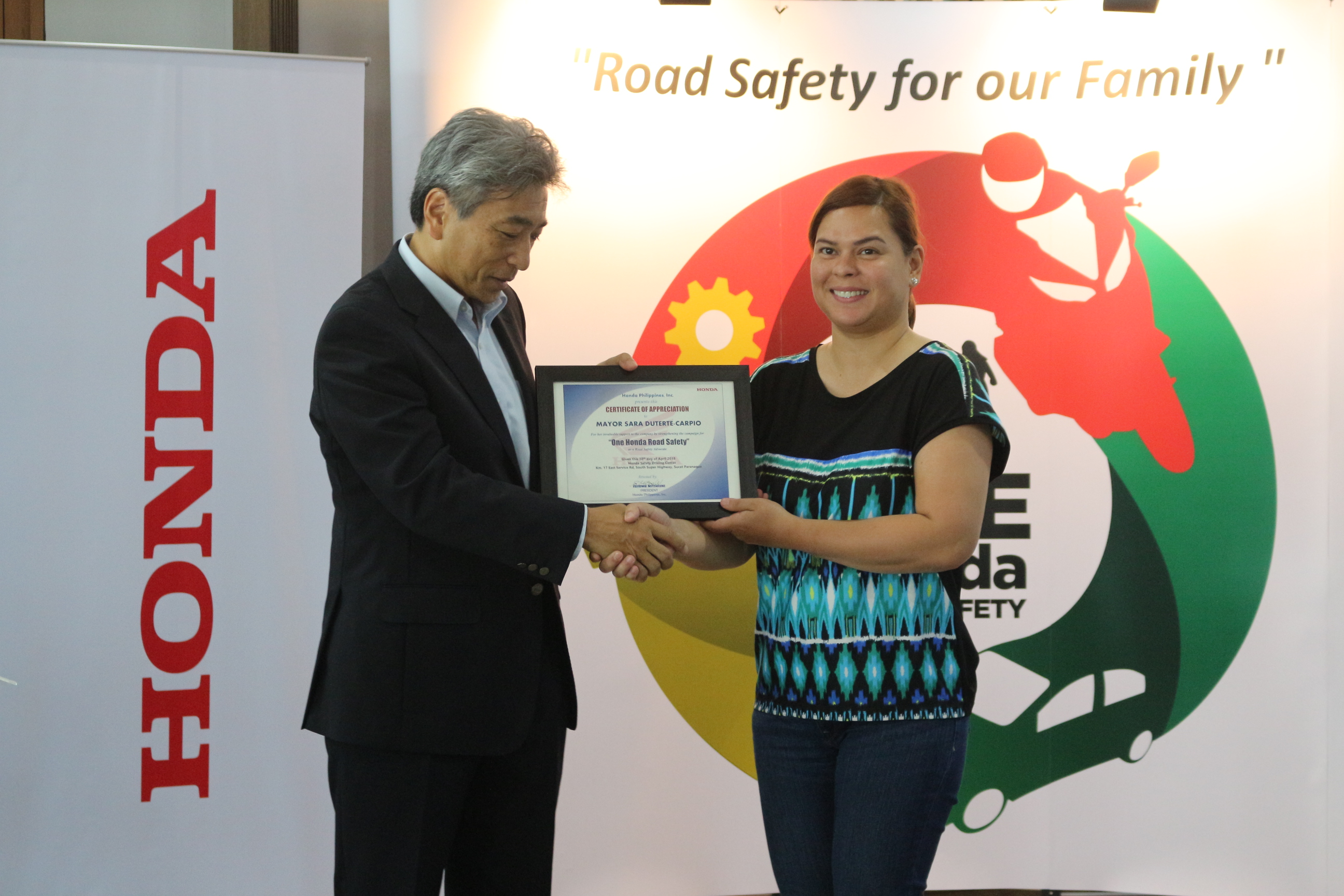 Sarah Duterte supports Road Safety Advocacy