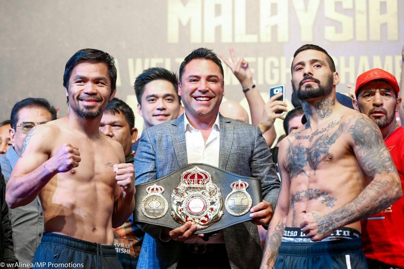 Manny Pacquiao and Lucas Matthysse (MP Promotions)