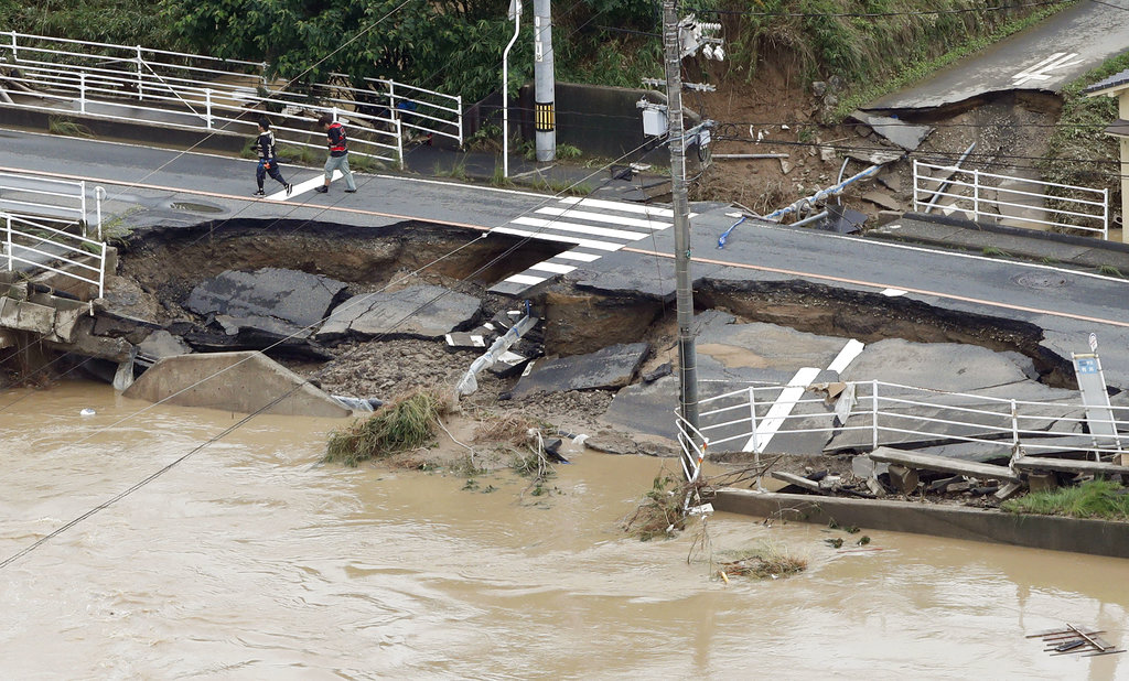 Death toll climbs to 76 as heavy rains hammer southern Japan
