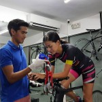 Ironman Coach Don Velasco trains his athletes in his own training lab