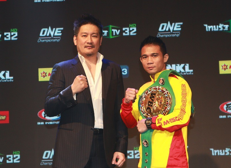ONE Championship big boss Chatri Sityodtong and Satri Srisaket Sor Rungvisai  (ONE Championship photo)