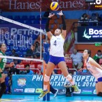 Becca Rivera sets up Maica Ortiz of the PH National Team.