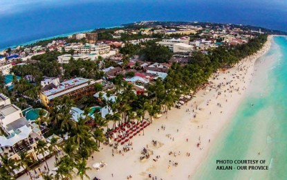 Aerial view of Boracay Island prior to closure and rehabilitation (File Photo)