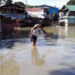 Five barangays of Calasiao, Pangasinan are still flooded as of Monday, July 30, 2018. (Photo courtesy of Calasiao MDRRMO)