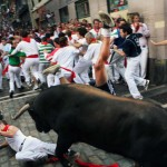Running of the Bulls (photo from CNN.com)