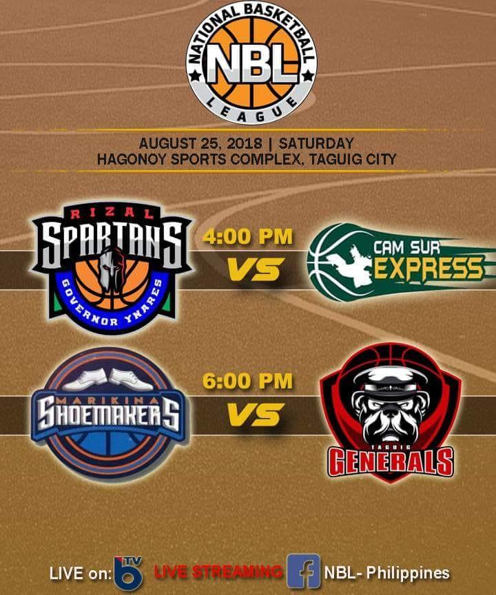 NBL PH Live Stream : Rizal Spartans-Governor Ynares vs Cam Sur Express [WATCH]