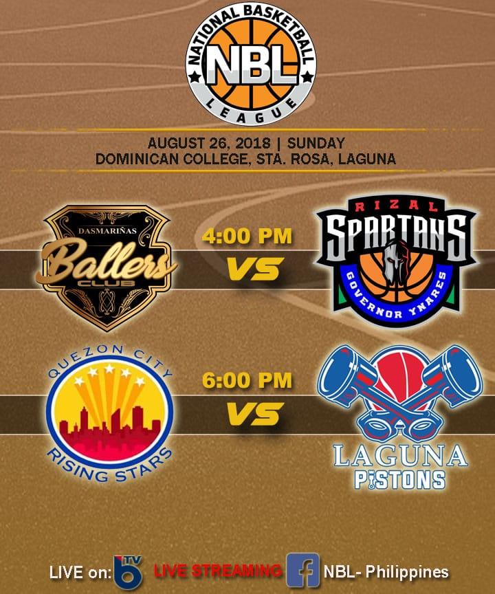 NBL PH Live Stream: QC Rising Stars vs Laguna Pistons [WATCH]