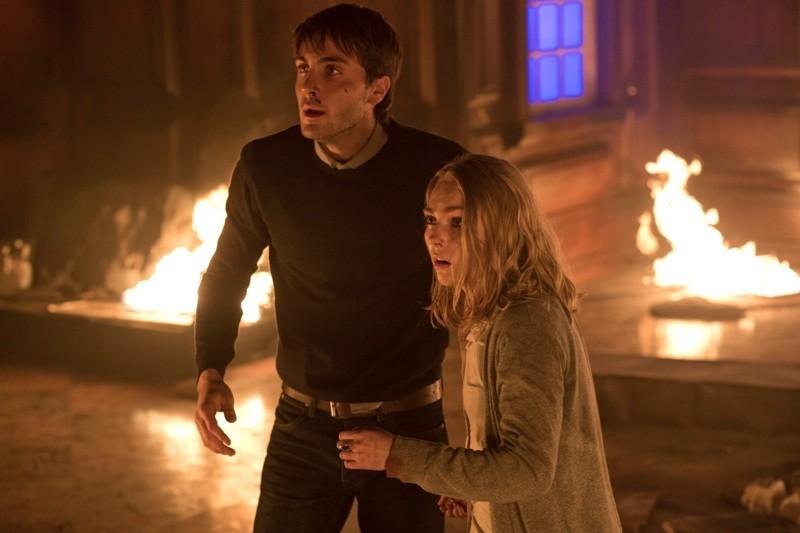 "Noah Silver and anna Sophia Robb in ""Down a Dark Hall"""