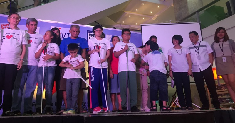 Blind children 'walk with dignity' at Farmers Plaza