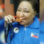 Powerlifter Adeline Dumapong-Ancheta, shown here with the bronze medal she won in Japan last Wednesday, is one of medal contenders in the 3rd Asian Para Games in Jakarta, Indonesia next month. (Photo courtesy of Irene Soriano-Remo)
