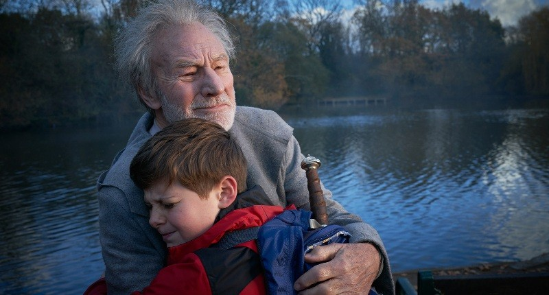 Patrick Stewart and Louis Serkis in THE KID WHO WOULD BE KING