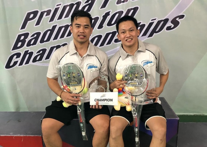 Escueta, Pantig win Prima badminton men's open doubles plum