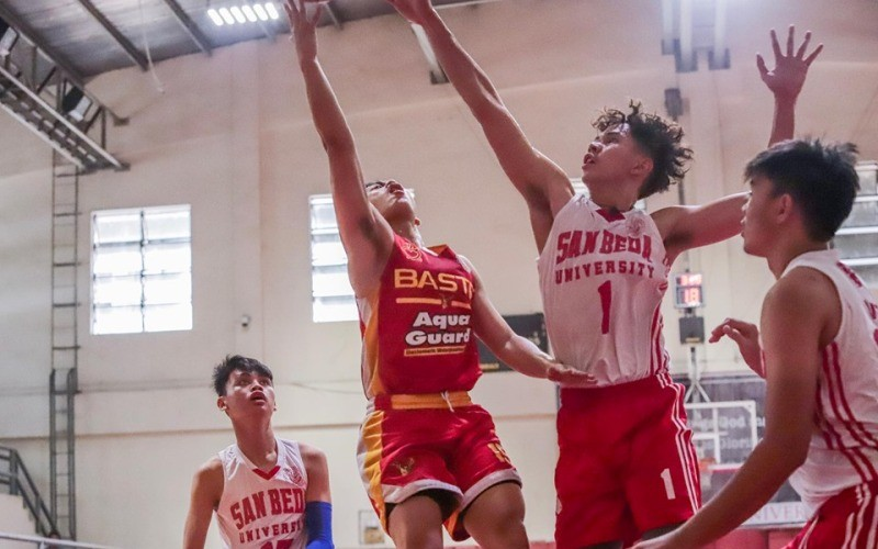 San Beda vs. San Sebastian in the high school division of the 25th Fr. Martin's Cup.