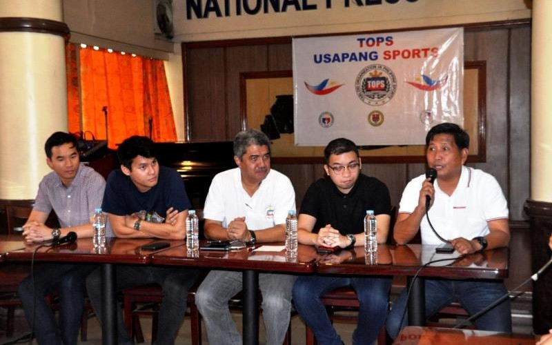 Dr. Jay Adalem (R) talks on the current changes made on leadership of PH Sports at TOPS.