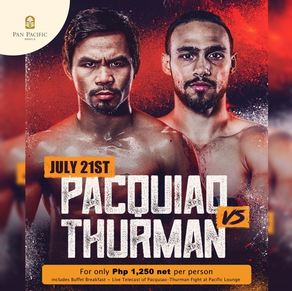 Knock-Out Stays for Pacquiao vs Thurman Fight at Pan Pacific Manila