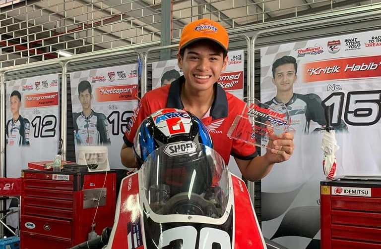 Troy Alberto won 2nd Place in Round 3 of Honda Thailand Talent Cup
