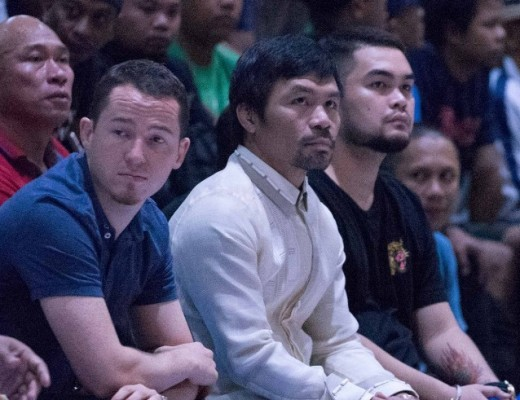 MPBL founder Manny Pacquiao (middle) (MPBL photo)