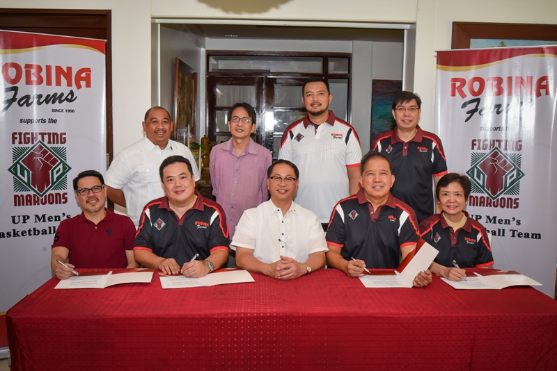 Robinsons Retail Group and Robina Farms continue to back the UP Fighting Maroons