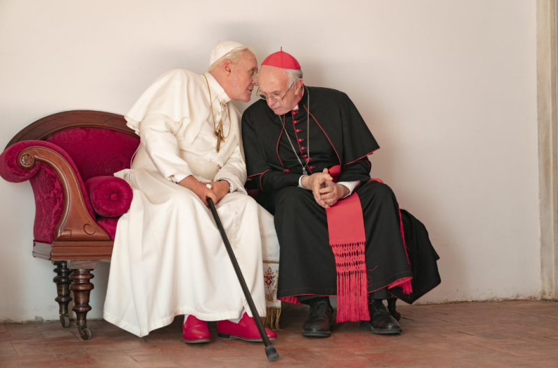 'Two Popes': Anthony Hopkins, Jonathan Price Play Pope Benedict and Pope Francis in Netflix Movie
