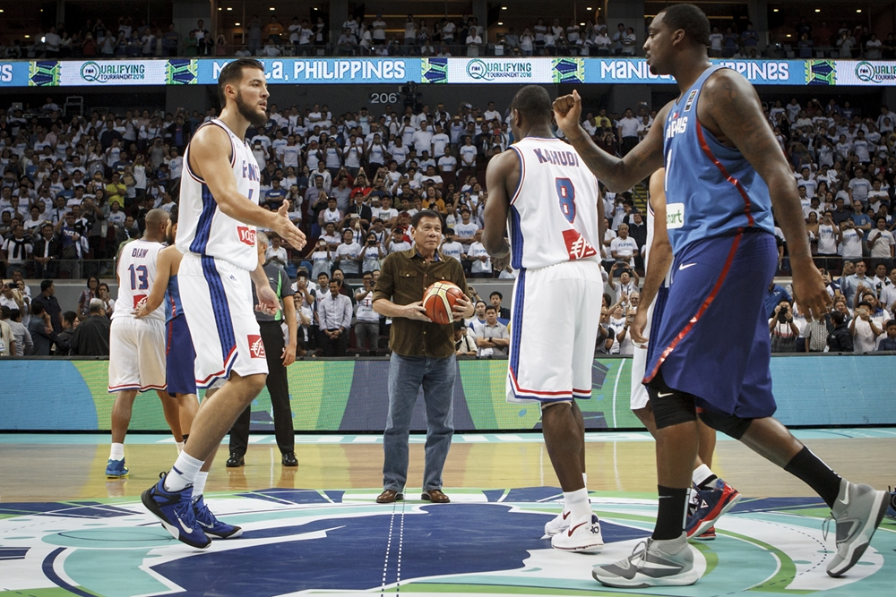 FIBA: President Duterte to watch Gilas Pilipinas-Italy match