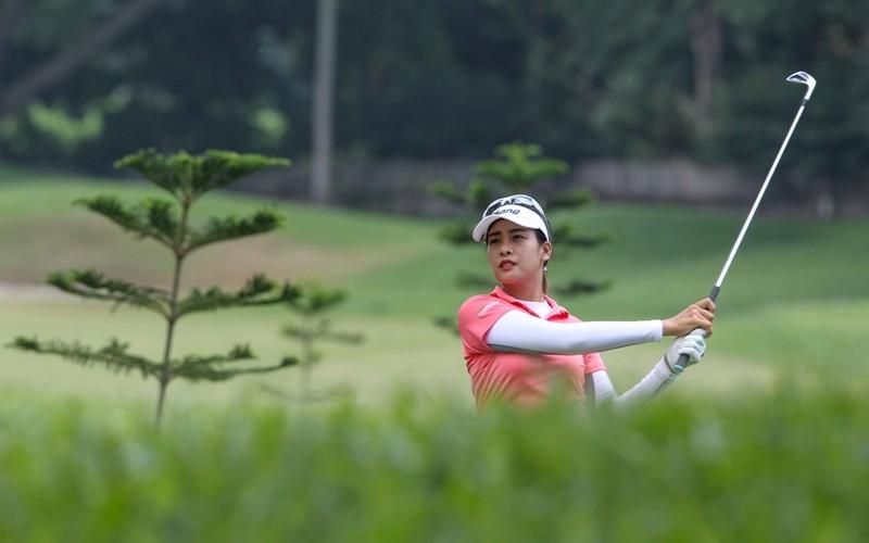 Thai Nemittra Juntanaket hits her approach shot on No. 9