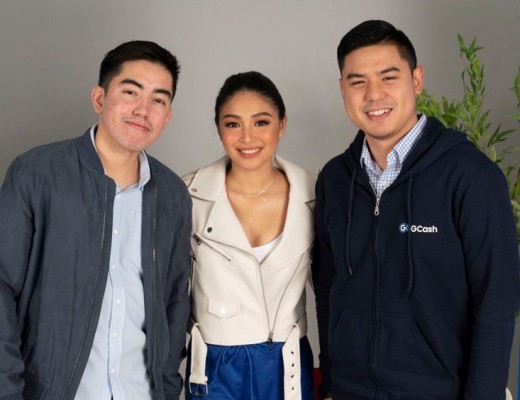 Franz Weber, Head for Branding and Strategic Planning, Nadine Lustre and GCash Chief Marketing Officer Chris Manguera