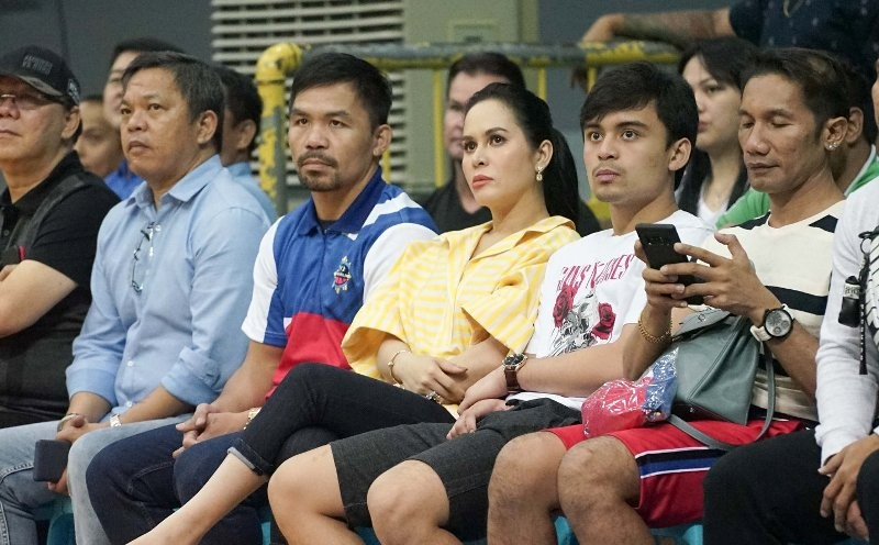 Manny Pacquiao and Jinkee Pacquiao (MPBL photo)