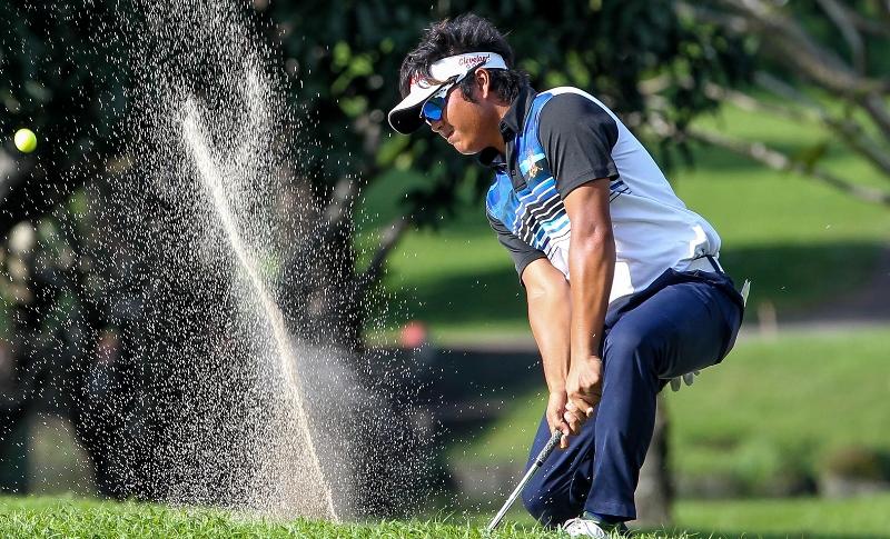 Golf: 9 share lead as wild finish mars Aboitiz opener