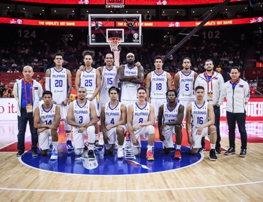 Gilas Pilipinas at the 2019 FIBA World Cup (FIBA.com photo)