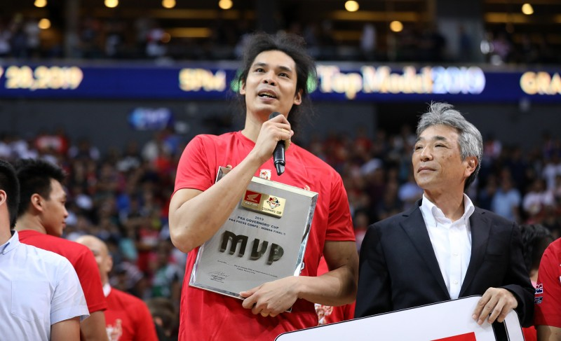 Japeth Aguilar of Barangay Ginebra is named PBA Finals MVP. (PBA Images)